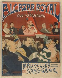 Alcazar royal, rue d'Arenberg - Bruxelles sans gène (Pleasure & leisure posters Belgium 1850-1899) #Booktower