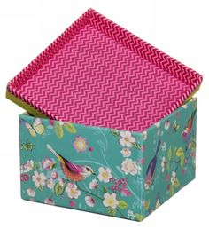 Melodie Colourful Butterfly and Flower Mini Storage Box