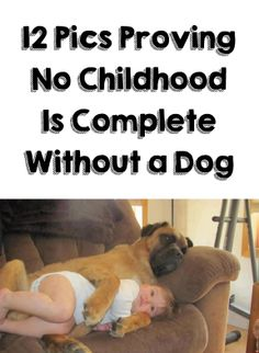 Don't miss the last pic on the 2nd page. The look on the dog's face is priceless!! http://theilovedogssite.com/12-photos-that-prove-no-childhood-is-complete-without-a-dog/