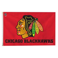 Chicago Blackhawks Red Banner Flag, Multicolor