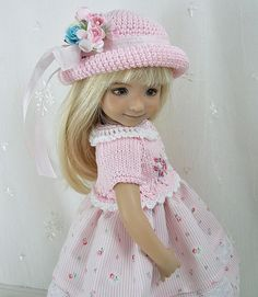 """Outfit for Dianna Effner Little Darling 13"""" Doll by Ulla, Pin Stripe Roses #DiannaEffner"""