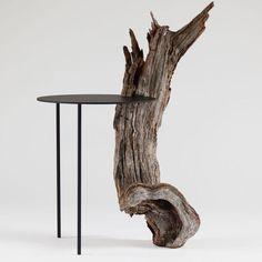 Ideen Designer furniture wooden table metal surface driftwood as a leg Deciding how much soil to buy Raw Furniture, Handmade Furniture, Wooden Furniture, Furniture Design, Furniture Stores, Whitewash Furniture, Hardwood Furniture, Furniture Cleaning, Automotive Furniture