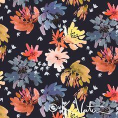 brush strokes, floral, gradients, indigo surface pattern design trends print & pattern: SURTEX 2015 - kelly ventura
