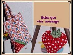 BOLSA DE TECIDO QUE VIRA MORANGO blog: http://www.rosamutuca.com.br/ facebook: http://www.facebook.com./rosamutuca snapchat: rosamutuca