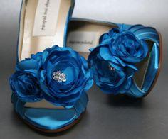 Wedding Shoes   Turquoise Peeptoe Heels by DesignYourPedestal