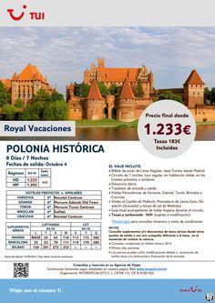 Oferta Polonia Histórica 8 días/7 noches. 4 Octubre. Precio final desde 1.233 ultimo minuto - http://zocotours.com/oferta-polonia-historica-8-dias7-noches-4-octubre-precio-final-desde-1-233-ultimo-minuto/