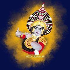yakshagana krishna Krishna Drawing, Calligraphy Tattoo, Indian Theme, Mini Canvas Art, Indian Art Paintings, Mandala Dots, Karnataka, Canvas Ideas, Art Drawings Sketches