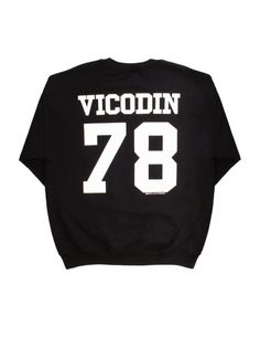 Women's Black/White Vicodin Sweatshirt by Brian Lichtenberg - ShopKitson.com