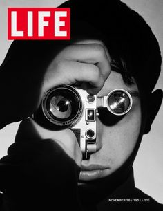 The Photojournalist 1951 Gelatin Silver by Andreas Feininger © Time Inc. Portrait of acclaimed photographer Dennis Stock. Stock won the LIFE Magazine amateur competition in Feininger took this now iconic photograph of Stock as a result.