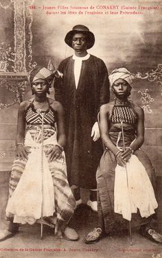 (5th May 2015) STERN: Photographed by Alphonse James in Conakry, Guinea in 1910, this seems a rather structured family to belong to.