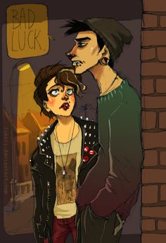 """ren regards t worriedly as she finds him at the beginning of alley on her walk home from theater. """"what are you doing here?"""" """"got kicked out,"""" he replies, indifferent. """"why?"""" he stares straight ahead, """"bad luck.""""  ren then proceeds to offer him a place to stay for a night or two (possibly depends on parents) and they evolve (THEY AREN'T STRANGERS EITHER)"""