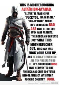 Altair from Assassins Creed! He is a boss!