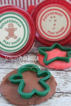 DIY Scented Play Dough (Gingerbread AND Peppermint)