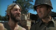 Oddball (Donald Sutherland) and Kelly (Clint Eastwood). 'Kelly's Heroes' (1970)