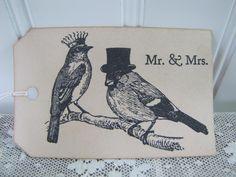 Royal Love Birds Wish Tree Wedding Tags 50 new to by packratdiva, $20.00