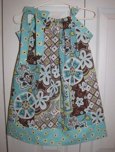 NEW Style Pillowcase Dress Flowers 69 mos 912 by MyTrendyPrincess, $15.00