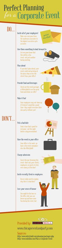 Perfect Planning For A Corporate Event [INFOGRAPHIC] #corporate #event