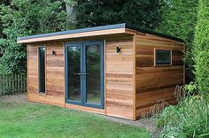 Image result for long narrow garden shed modern