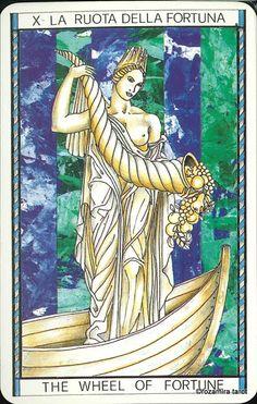X. The Wheel of Fortune - Tarocco Mitologico by Amerigo Folchi
