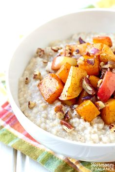 Savory Porridge with Butternut Squash and Apples Recipe