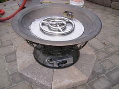 Tons of propane fire pit conversation ideas. FPPK propane burner install