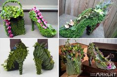 Succulent Shoes? Who knew? Living wardrobe. Pretty neat, for sure.