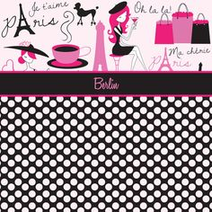 Pink and Black Paris Fashion Lady Comforter, Great for the little diva in your life she will get a kick out of this and feel special personalize it with her Name.  Also come with matching Pillow Cases
