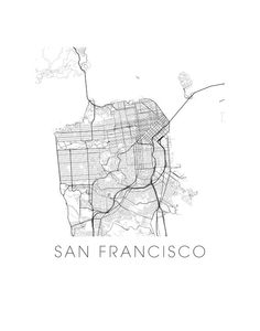 San Francisco Map Print by iLikeMaps on Etsy