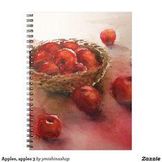 Apples, apples 3 spiral notebooks