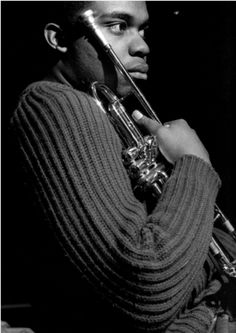 Freddie Hubbard - hard bop trumpet player - April 1938 - Francis Wolff: Freddie Hubbard during Hank Mobley's The Turnaround session, Englewood Cliffs NJ, February 1965 Jazz Artists, Jazz Musicians, Jazz Trumpet, Trumpet Music, Francis Wolff, Freddie Hubbard, Jazz Cat, A Love Supreme, Hard Bop