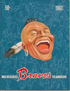 """Perfect Condition, I've owned this 1961 Milwaukee Braves Yearbook since """"APR 20 P."""" stamped on front cover. 52 pages includes the paper cover, nothing is missing. This was published while Braves were in 1961 Spring Training. Atlanta Braves Logo, Milwaukee Beer, Braves Game, Baseball Art, Team Pictures, Retro Logos, Spring Training, National League, Vintage Advertisements"""