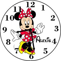 Minnie Mouse Inspired Personalized Wall by FavorsnGiftsBoutique Personalized Clocks, Kid Spaces, Kids Rooms, Minnie Mouse, Snoopy, Decor Ideas, Inspired, Disney Characters, Handmade Gifts