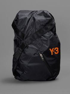 Y-3 BACKPACK WITH ZIPPED FRONT AND ONE INTERNAL ZIPPED POCKET HEIGHT: 50CM WIDTH:34CM DEPTH: 10CM