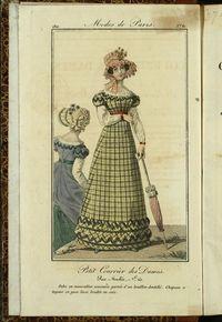 Petit Courrier des Dames : annonces des modes, des nouveautés et des arts del 5 de Julio de 1822