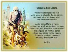 LINDOS RECADOS: Oração-a-São-Lazáro.
