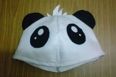 How to make? follow the size at picture there 6.5 inches W, 7  inches Height. Cut into 4 pieces. Sew the 4 cloth together, add in d  ear.... Panda Costume Diy, Panda Costumes, Diy Costumes, Panda Head, Headgear, Crafty, Sewing, Diy Fashion, Pumpkin