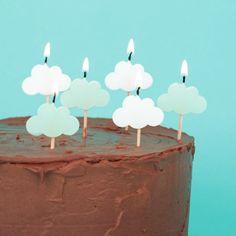 Figurenkerzen Wolken, 6 Stück Light Up, Candles, Grown Up Parties, Clouds, Decorating, Dekoration, Kids, Rain Bow