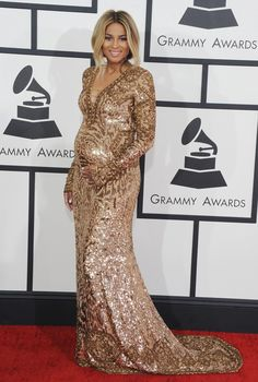 Ciara stuns on the red carpet. Click to see the best pregnant celebrity styles of 2014!