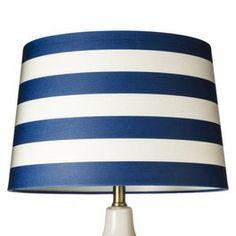 navy stripe // Threshold™ Nautical Stripe Lampshade (Large)