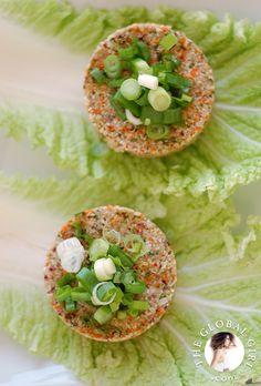 @theglobalgirl Raw Food Recipes: Raw cauliflower burgers. These delicious raw cauliflower burger patties are vegan, gluten free, dairy free and nut-free. http://theglobalgirl.com/rawfoodrecipes