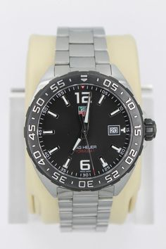 e7a8ef7c9a8 Tag Heuer WAZ1110.BA0875 Formula One F1 Watch Mens Black Silver Mint  Crystal SS Tag