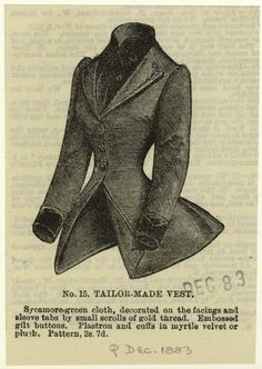 Tailor-Made Vest, c. 1883 via NYPL