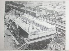 Basildon Railway Station under construction, early 1970's.