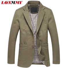 LONMMY 4XL 5XL Fashion mens blazer jacket Business suit slim fit wedding dress men blazer designs Casual New 2017 Autumn Spring