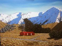 Castle Hill Station Farmhouse - Prints Available Hill Station, Acrylic Paintings, Castle, My Arts, Farmhouse, Mountains, Nature, Artist, Artwork