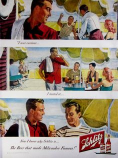 1948 Schlitz Beer Vintage Advertisement Vintage Bar Wall Art Kitchen Decor Original Magazine Print Ad John Gannam Americana Paper Ephemera by RelicEclectic on Etsy