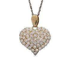 DTJEWELS 14K Black Gold Plated 1.25 Ctw Round Cut D//VVS1 Diamonds Versa Pendant 18 Chain 925 Silver