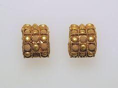 Earring, baule type Date: 7th–5th Century B.C. Culture: Etruscan Medium: Gold