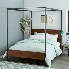 Rogan Canopy Bed #westelm *I'm throwing this in as a wild card.  It would actually look incredible since you have to space and look to house it.
