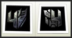 Transformers: Age of Extinction - Autobot and Decepticon Logos Free Papercrafts Download - www.papercraftsqu...
